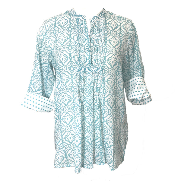 Cockatoo Pintuck Tunic