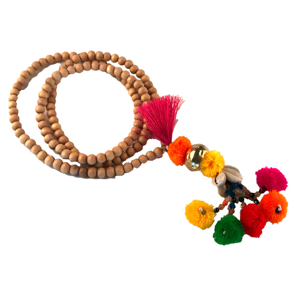 Oliphant Wood and Pom Pom Necklace - thegrovewp