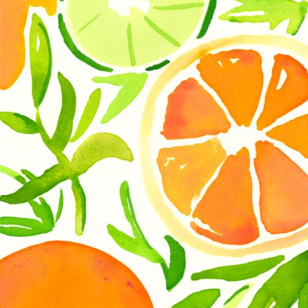 Wrapping Sheets | Orange Slices-Kara McKean Designs-The Grove