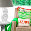 EDW Designs Custom Citrus + White with Orange Fringe Pillow - thegrovewp