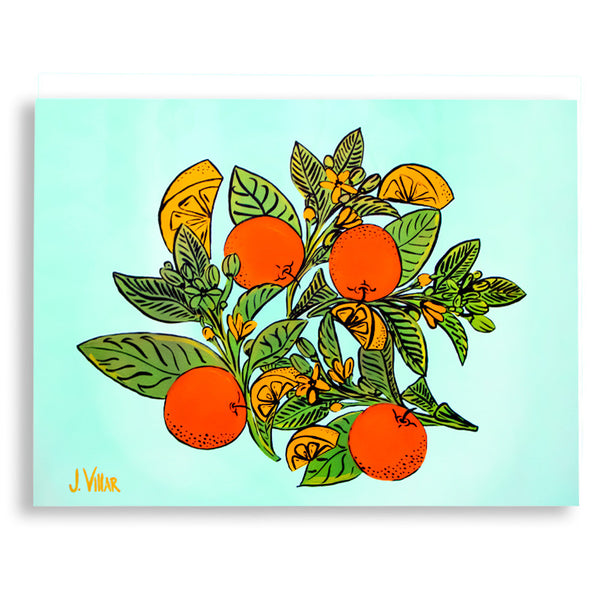 Citrus Acrylic on Canvas Painting-J. Villar-The Grove