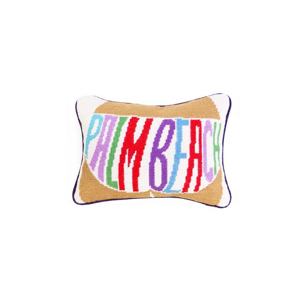 Palm Beach Mini Velvet Pillow