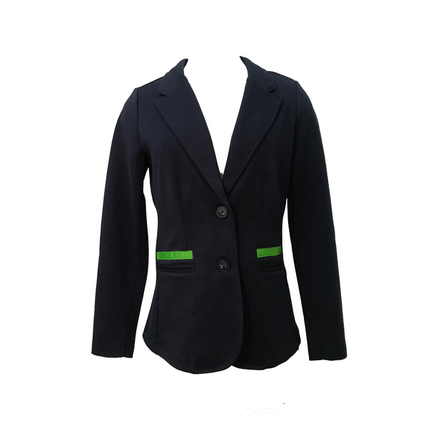 Giddy Up Jacket | Navy with Blue & Green Plaid