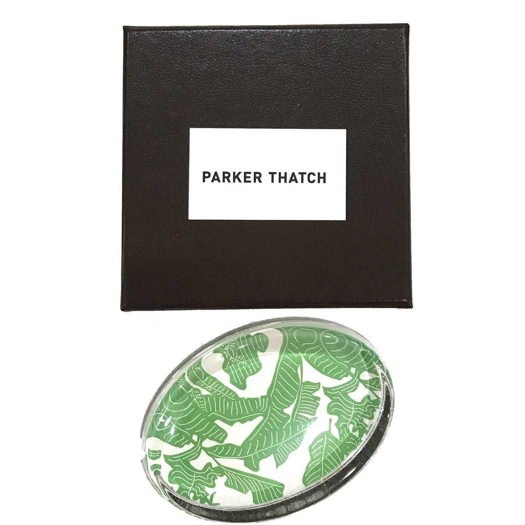 Parker Thatch Banana Leaf Paperweight - thegrovewp