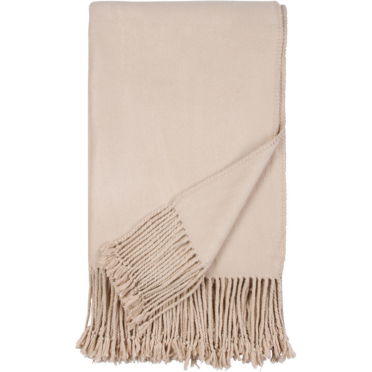 Luxxe Fringe Throw | Nude