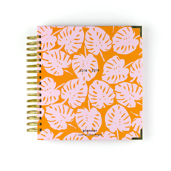 Pink Orange Palm Planner | Large