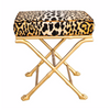 Faux Bamboo Footed X-Stool