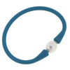 Bali Freshwater Pearl Silicone Bracelet | Teal