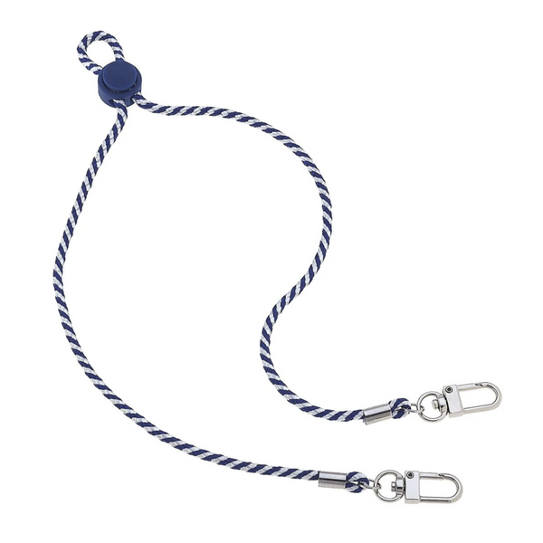 Men's Cord Mask Lanyard | Navy and White