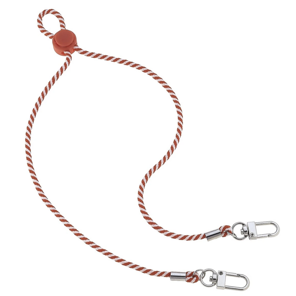 Men's Cord Mask Lanyard | Orange and White