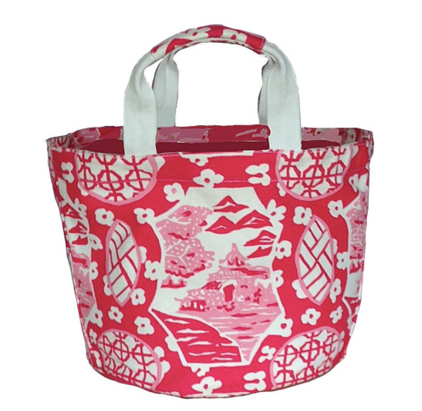 Canton Bucket Tote | Pink-Dana Gibson-The Grove