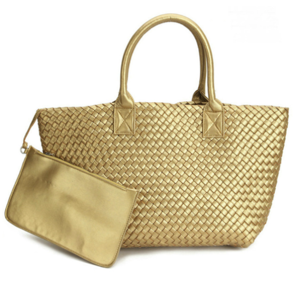 Braided Tote | Gold