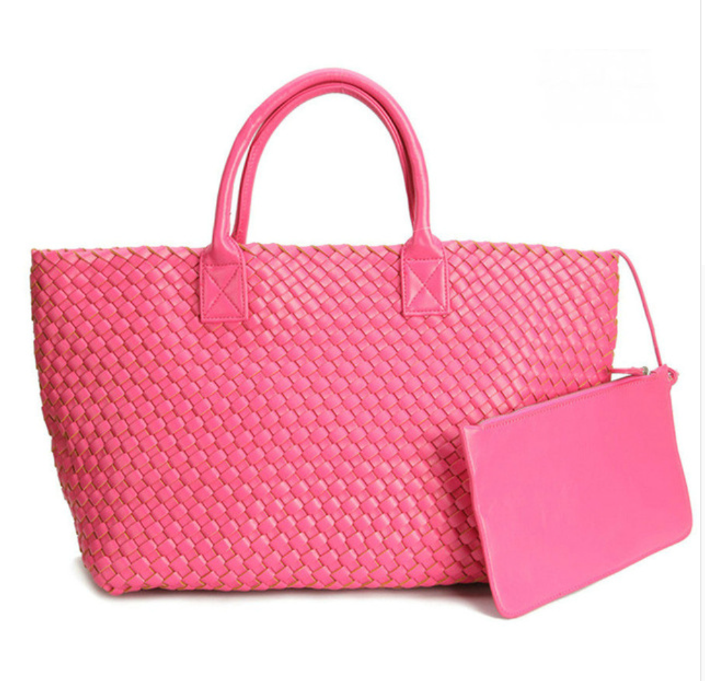 Braided Tote | Pink