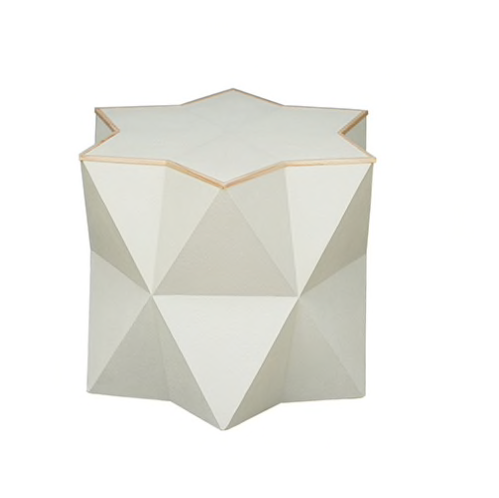 Astro Side Table | Cream Shagreen-World's Away-The Grove