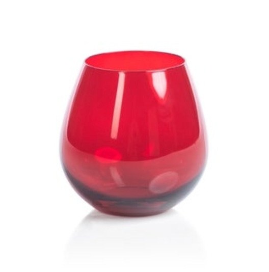 Stemless All Purpose Glass | Luster Red