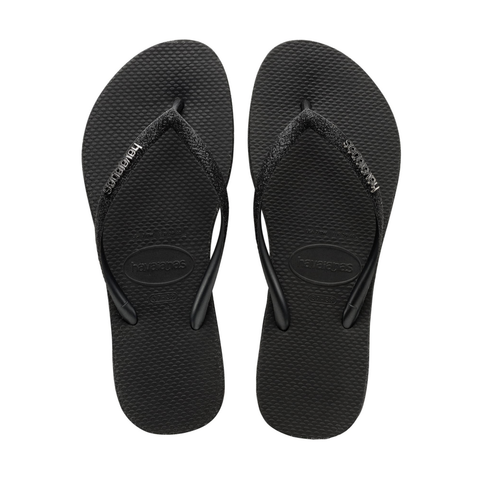 Slim Sparkle Sandal | Black