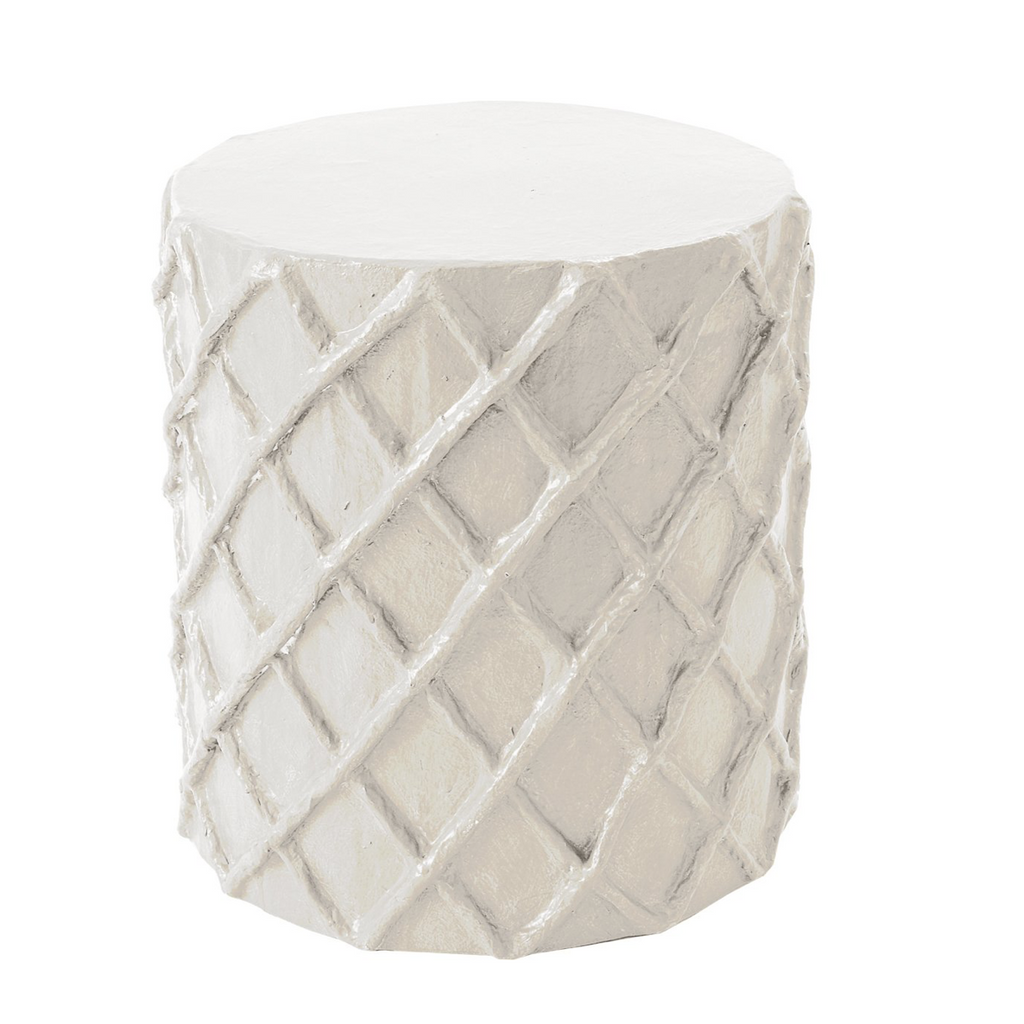 Net Stool | White