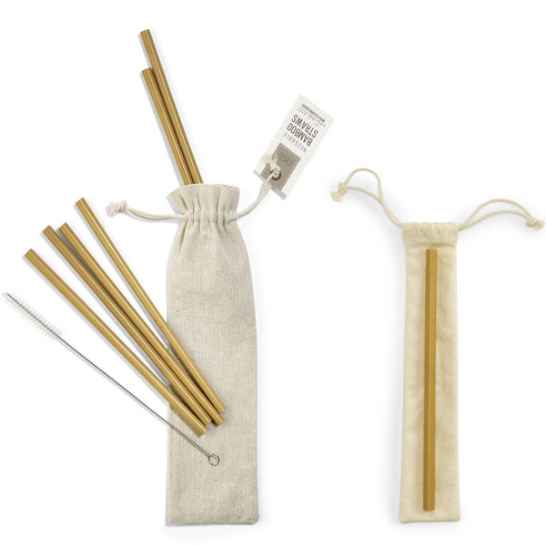 Bamboo Straws | Set of Six