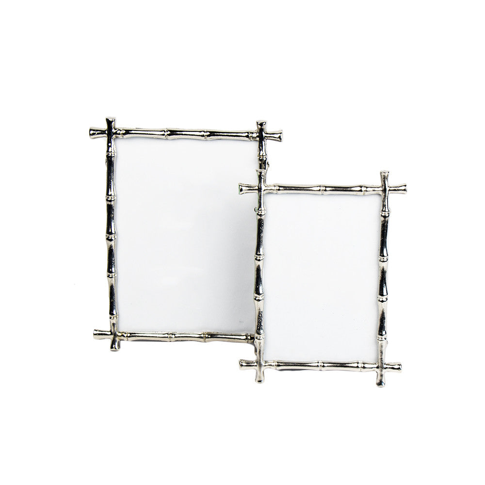 Two's Company Silver Bamboo Frame - thegrovewp