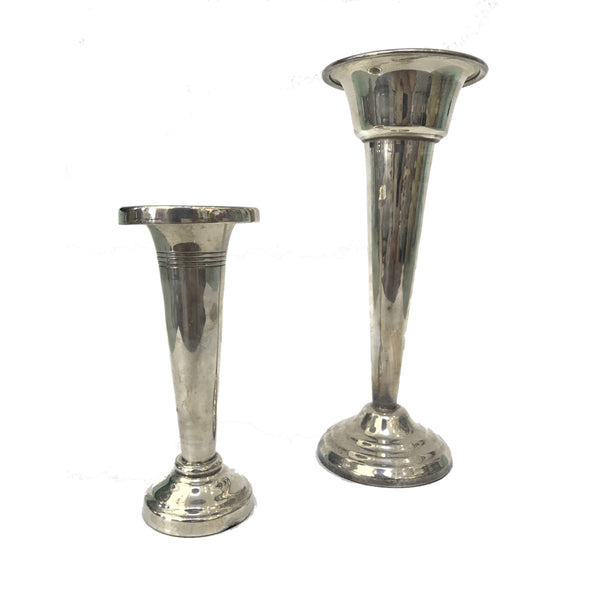 Two's Company Silver Vases - thegrovewp