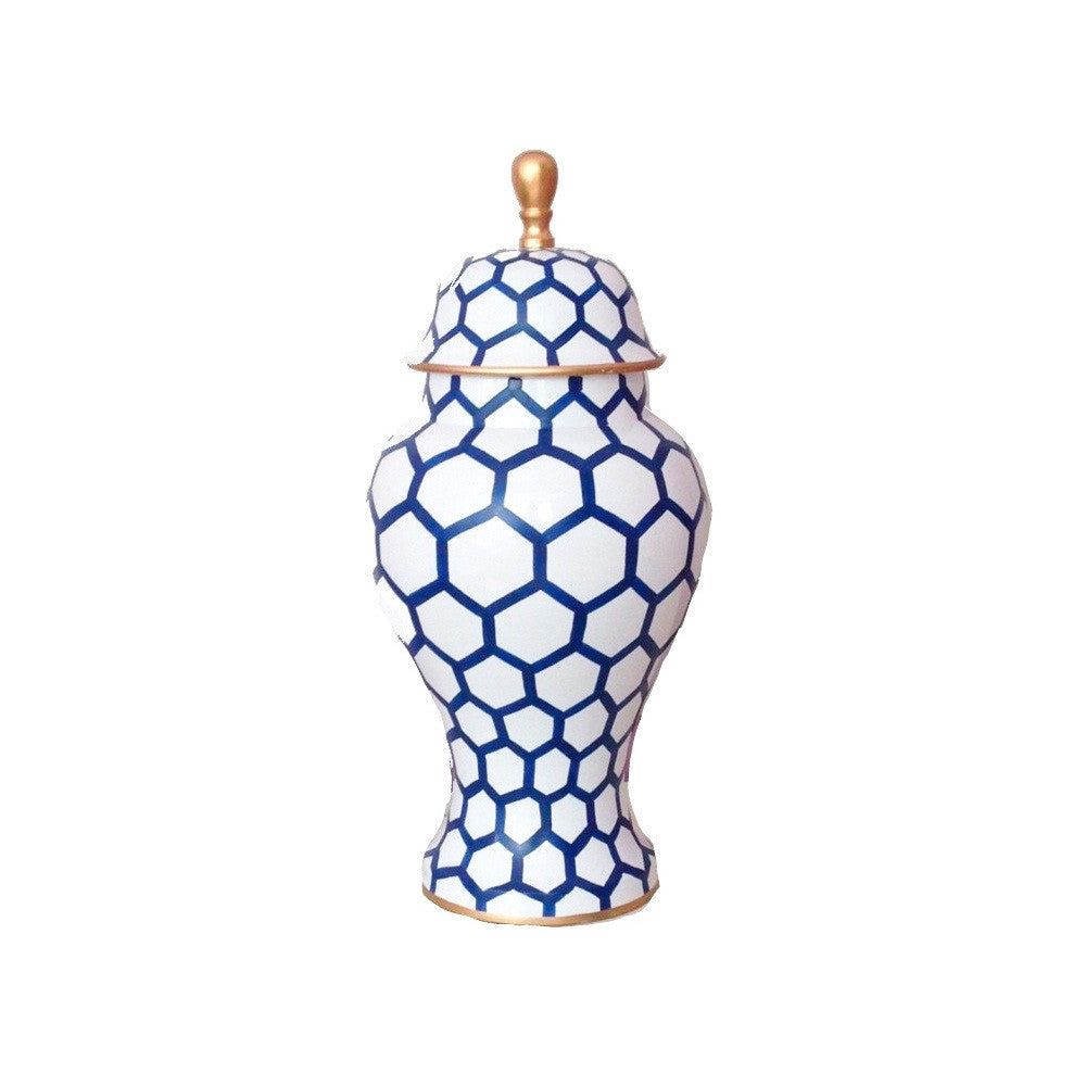 Blue Mesh Small Ginger Jar-Dana Gibson-The Grove