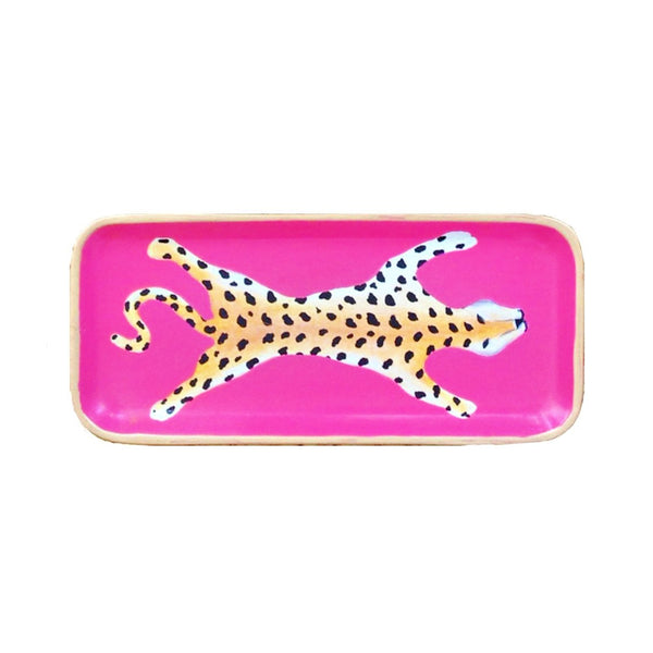 Pink Leopard Small Tray-Dana Gibson-The Grove
