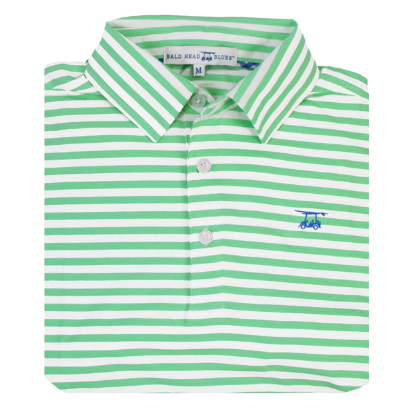 Ace Polo | Spring Green and White