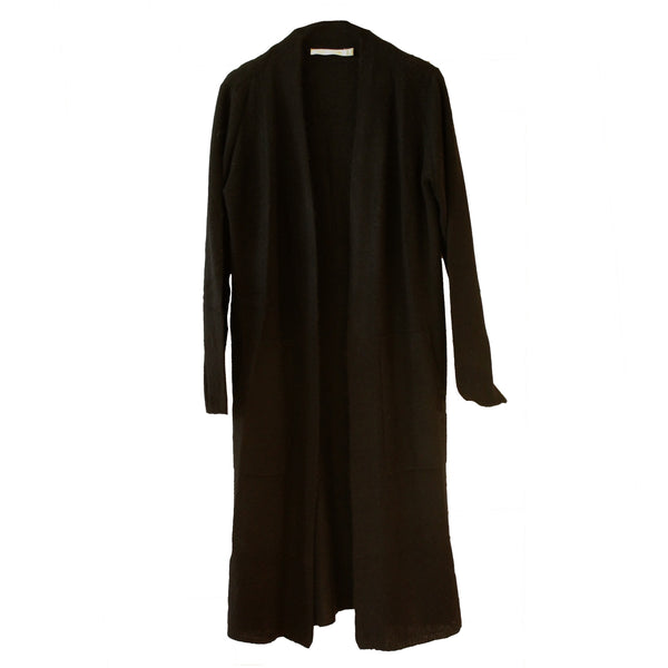 Long Cashmere Duster | Black