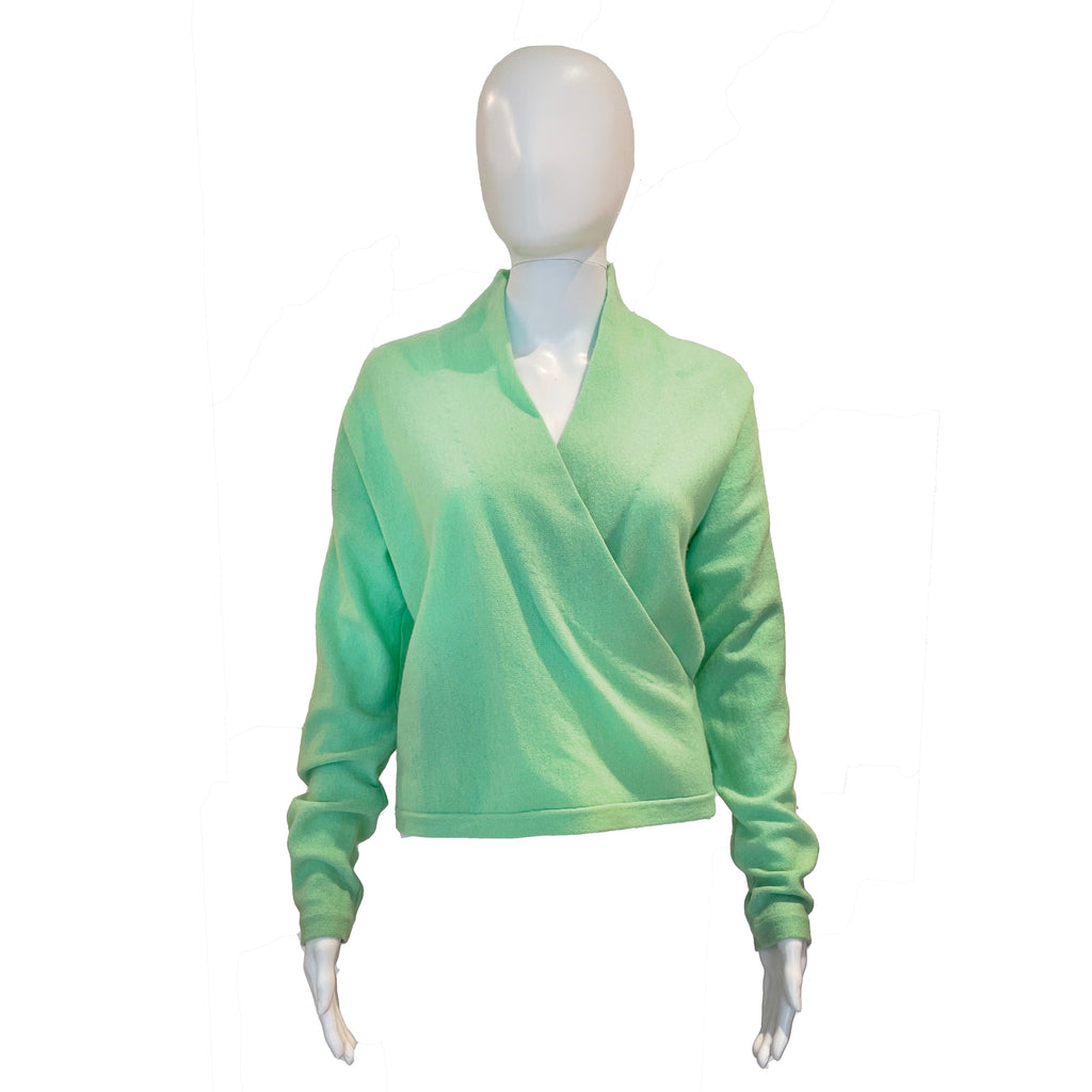 Faux Wrap Sweater | Mint