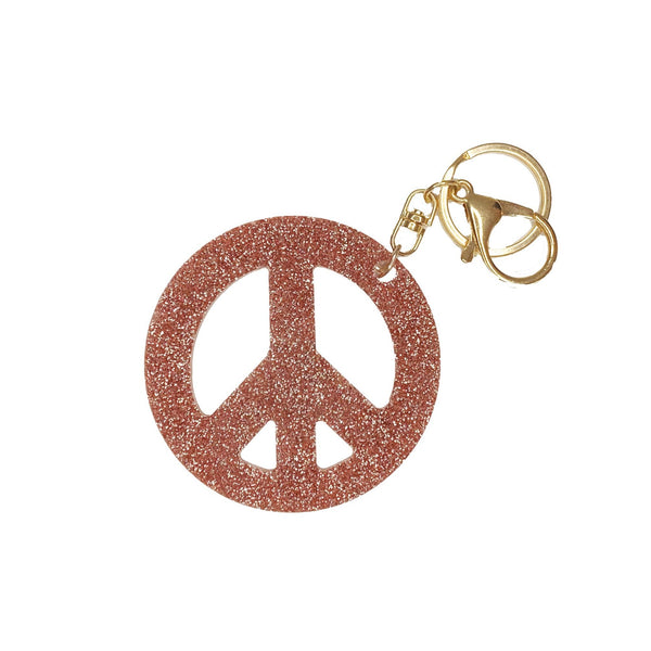Lucite Keychain | Peace