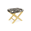 Small Zebra X-Bench-Taylor Burke Home-The Grove