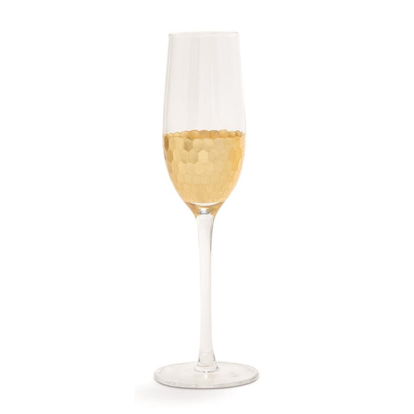 Gold Standard Faceted Champagne Flute