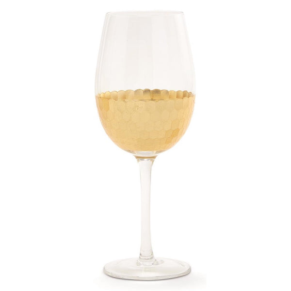 Gold Standard Faceted Wine Glass