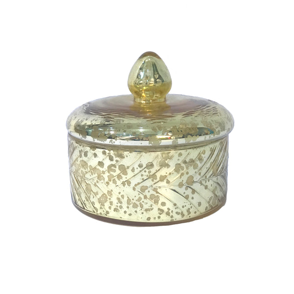Gold Mercury Glass Candle