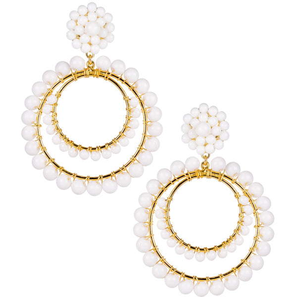 Caroline Earrings | White