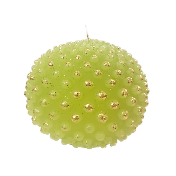 Dotted Ball Candle | Chartreuse