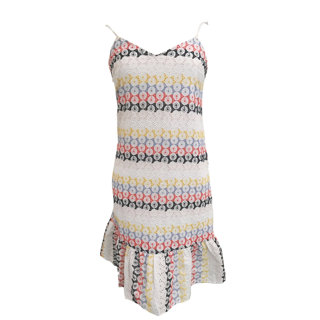 Rainbow Eyelet Tank Dress-English Factory-The Grove