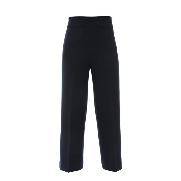 Wide Leg Pull On Pant | Navy-Fabrizio Gianni-The Grove