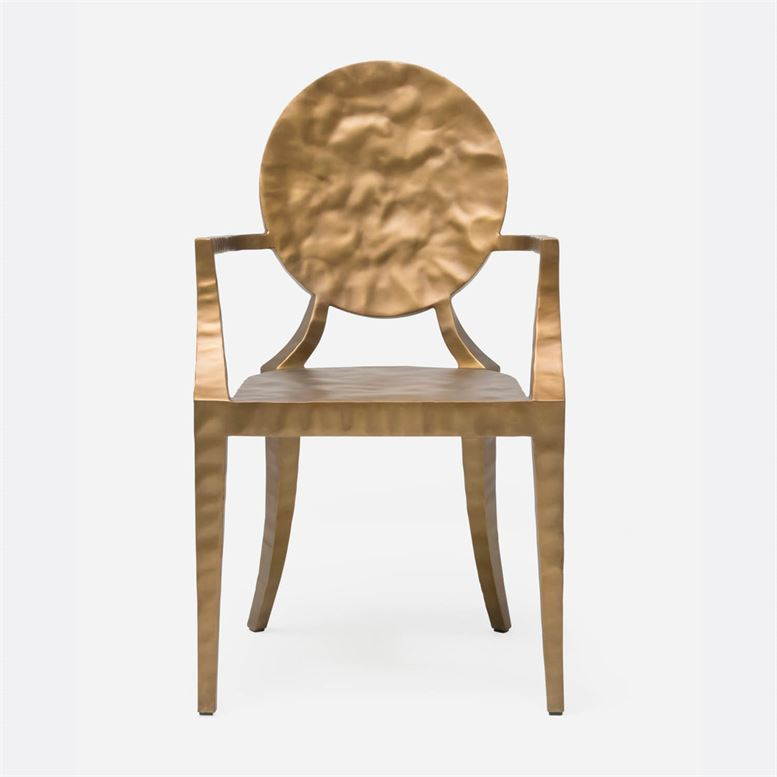 Daphne Chair | Hammered Gold Iron