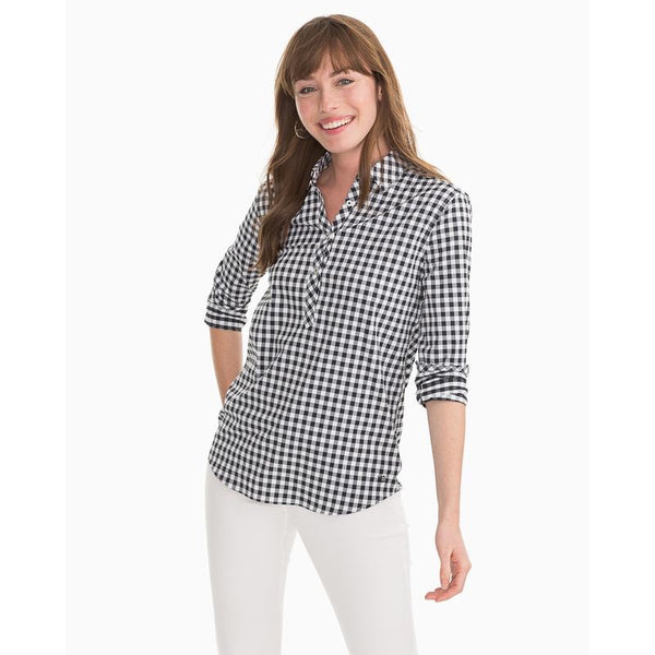 Gameday Intercoastal Hadley Popover | Black & White