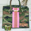 Personalized Camo & Beaded Stripe Tote