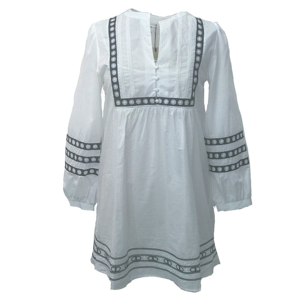 Analise Embroidered Shift Dress
