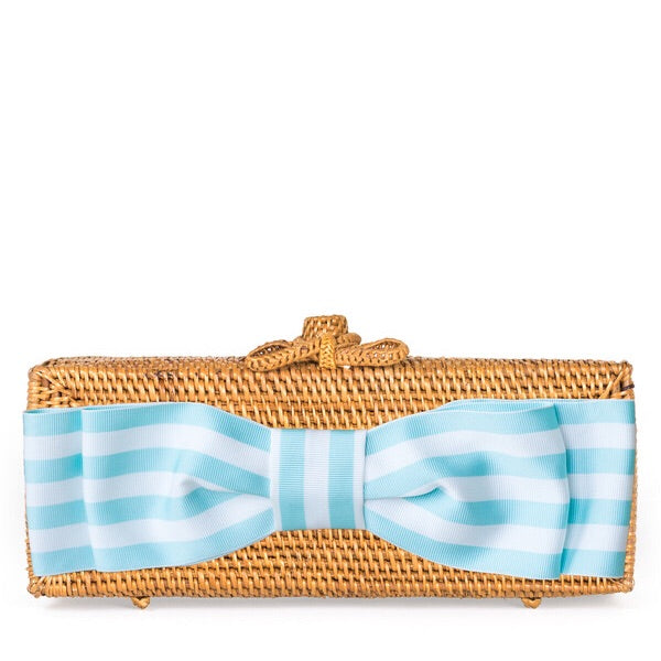 Colette Striped Bow Clutch