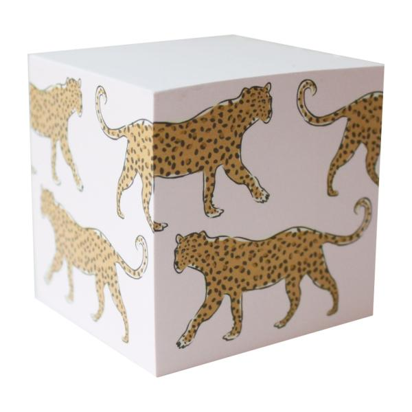 Sticky Note Cube | Leopard