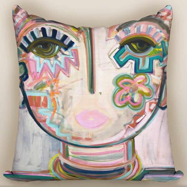 Macaroon Chica — Pillow Cover