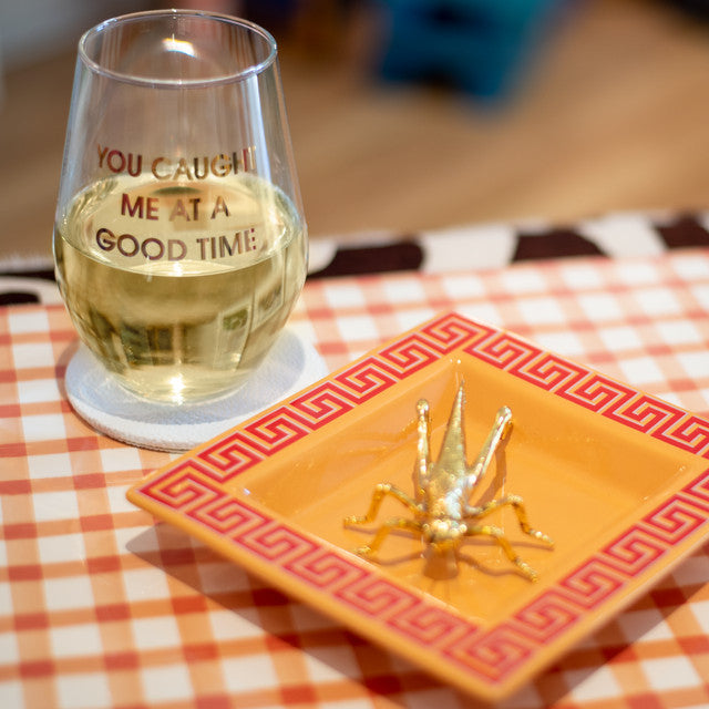 Paper Placemats | Orange Painted Check