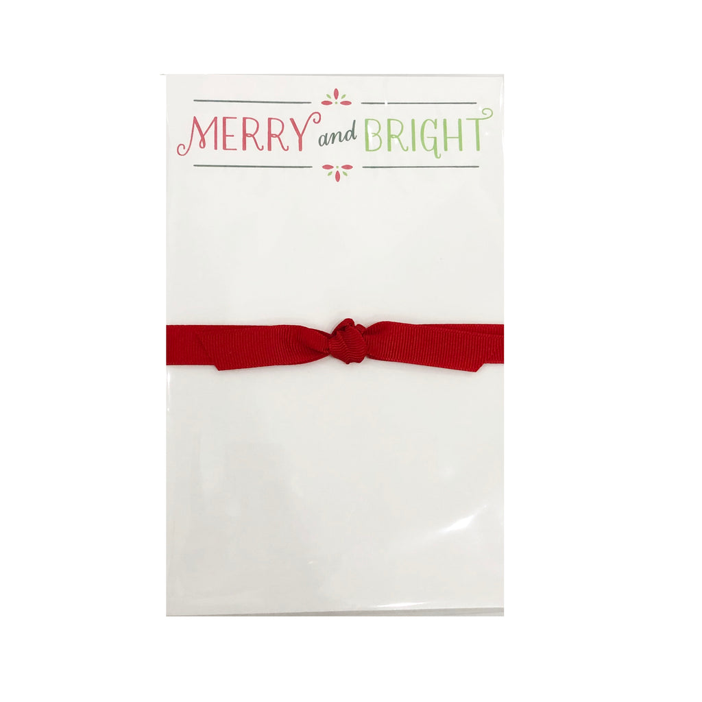 Merry and Bright Notepad-Donovan Designs-The Grove
