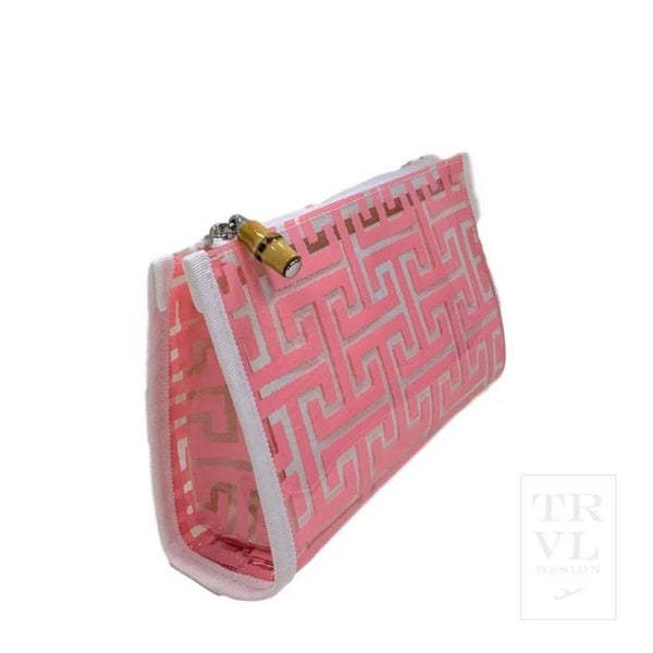 Daytripper Cosmetic Bag | Shell Pink Trellis