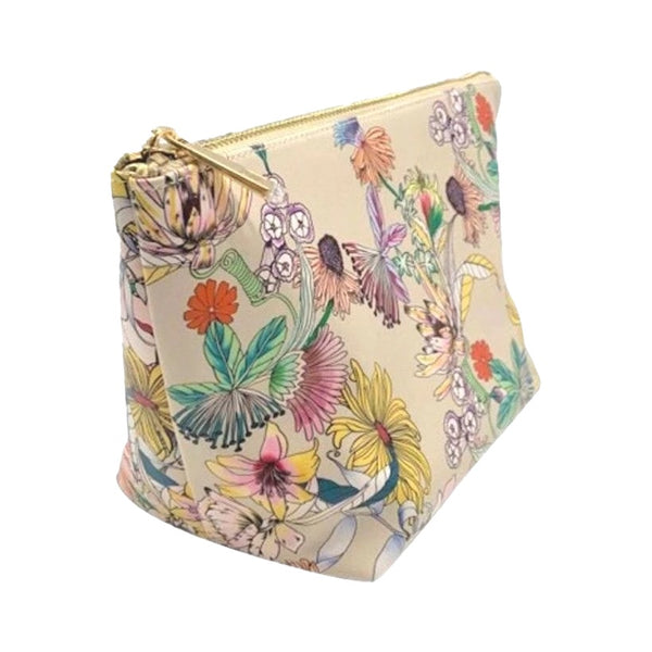 Luxe Top Zip Triangle Bag | Floral
