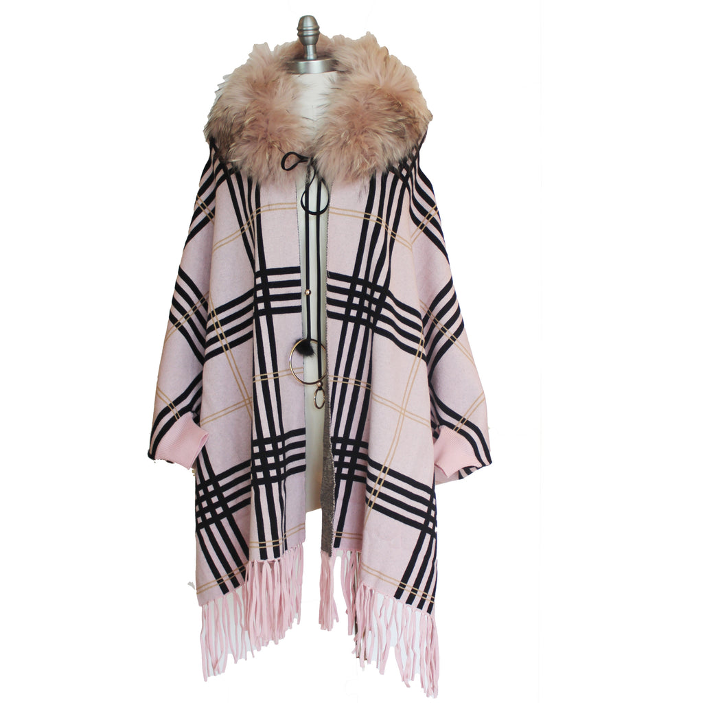 Pale Pink Poncho with Sleeves